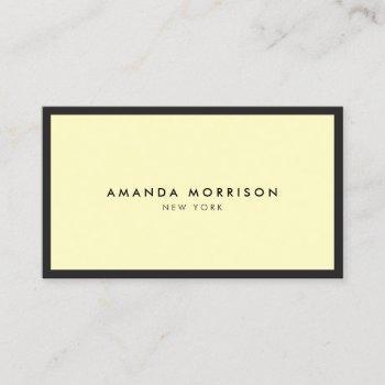 minimalist luxury boutique black/yellow business card