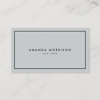 minimalist luxury boutique gray/black business card