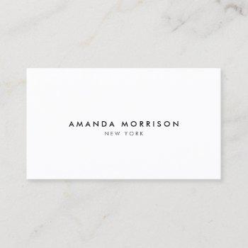 minimalist luxury boutique white business card