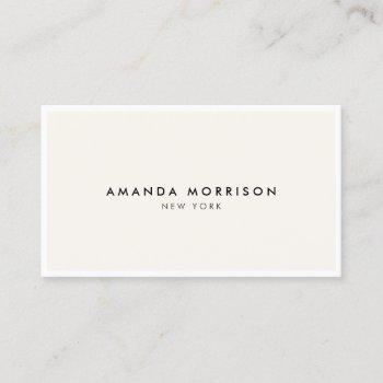minimalist luxury boutique white/ivory business card