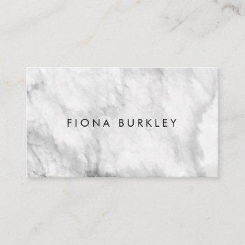 minimalist marble texture business card