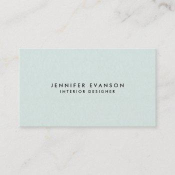 minimalist mint green modern and professional business card