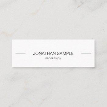 minimalist modern creative clean trendy beautiful mini business card