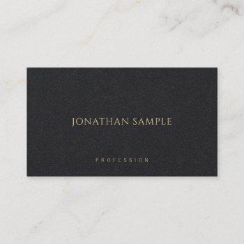 minimalist modern elegant premium black luxury business card