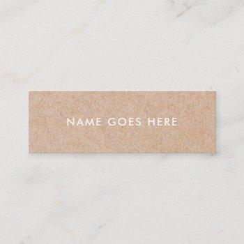 minimalist modern rustic kraft mini business card