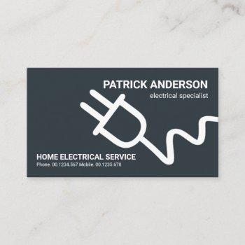 minimalist oversize electric power plug motif business card