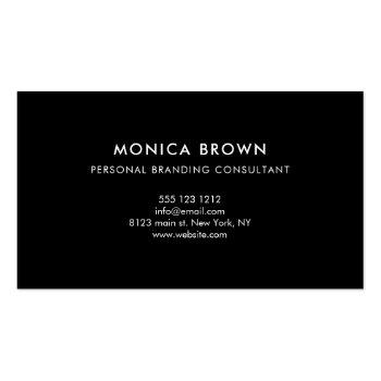 Small Minimalist Professional Corporate Black And White Business Card Back View