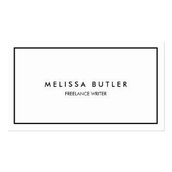 Small Minimalist Professional Elegant Black And White Business Card Front View