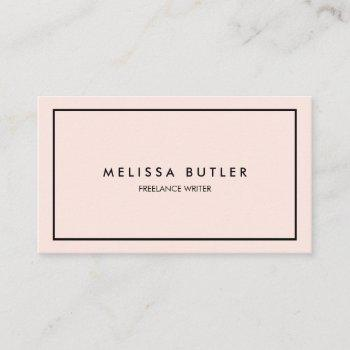 minimalist professional elegant blush pink business card