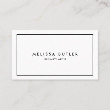 minimalist professional elegant business card