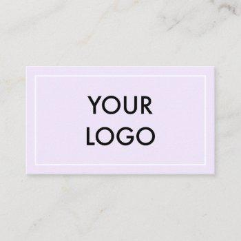 minimalist professional modern business card