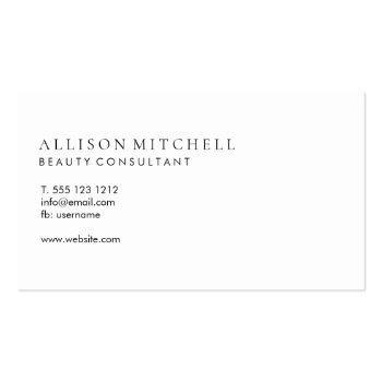 Small Minimalist Professional Modern Elegant Script Business Card Back View