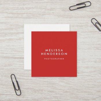 minimalist professional modern square business card