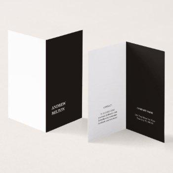 minimalist simple elegant black white consultant business card