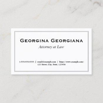 minimalist, simple & elegant with line border business card