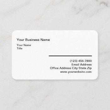 minimalist simple rounded corner business cards