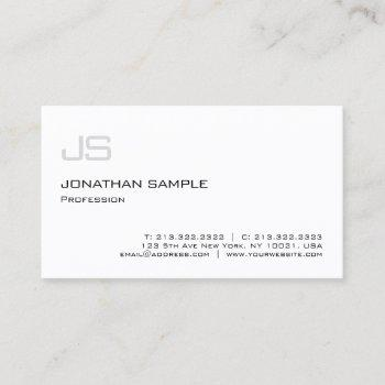 minimalistic modern elegant professional monogram business card