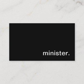 minister business card