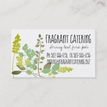 mixed herbs culinary chef catering business card