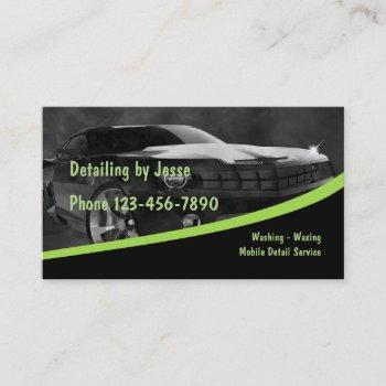 mobile auto detailing business card