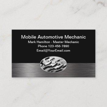 mobile car mechanic design business card