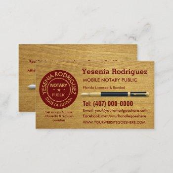 mobile notary public business card