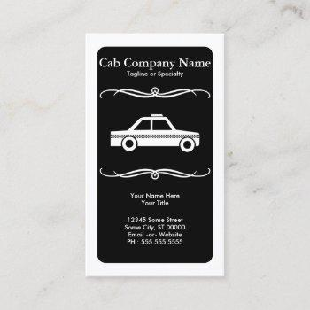 mod taxi cab business card