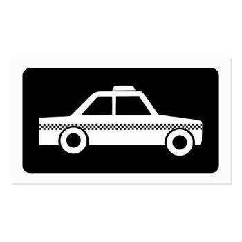Small Mod Taxi Cab Business Card Back View
