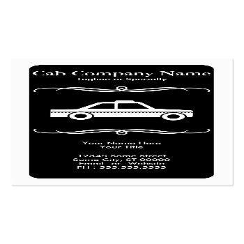 Small Mod Taxi Cab Business Card Front View