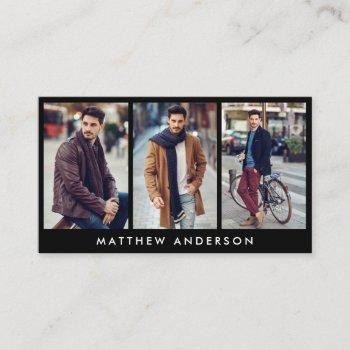 model actor 3 photo business card black