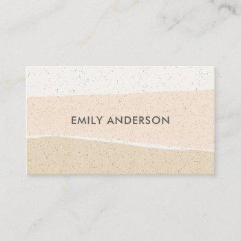 modern abstract blush pink ceramic texture waves business card