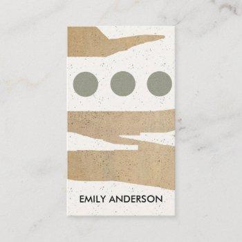 modern abstract geometric art ceramic texture business card