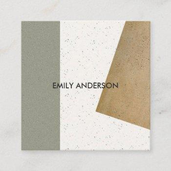 modern abstract geometric art ceramic texture square business card
