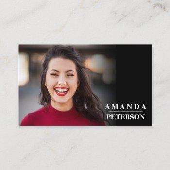 modern actor models dancer photo horizontal business card
