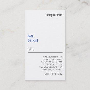 modern and unusual business card