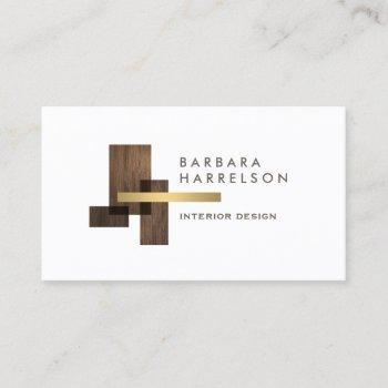 modern architectural interior design logo business card