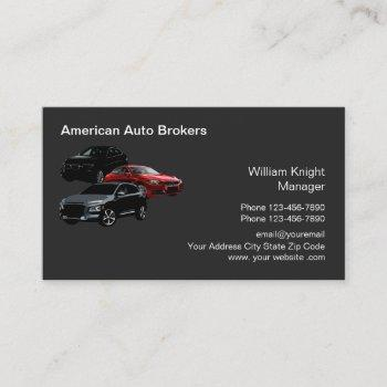 modern auto broker theme business card