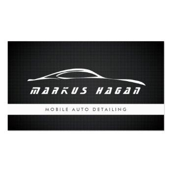 Small Modern Auto Detailing, Auto Repair Business Card Front View