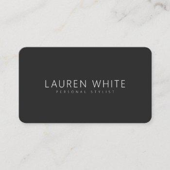 modern black elegant minimalist professional chic business card