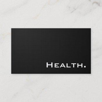 modern black front and back-health professional business card