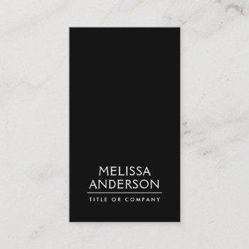 modern black minimalist professional business card