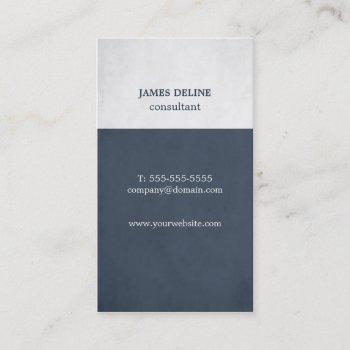 modern blue textured consultant business card