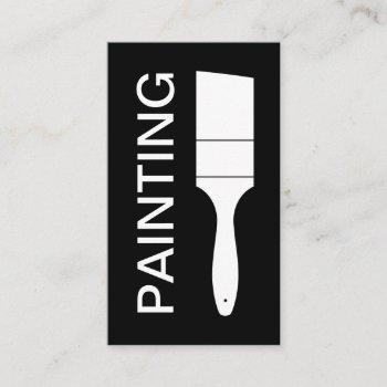 modern bold black and white painter business card