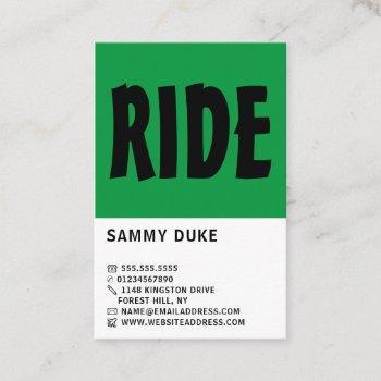 modern bold, cycling, bicyclist business card