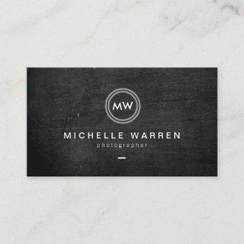 modern camera lens initials logo ii photographer business card