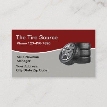 modern car tire sales business card