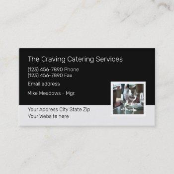 modern catering services template business card