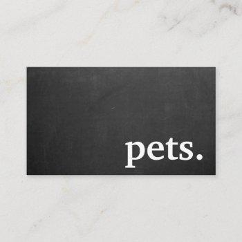modern chalkboard pets. loyalty punch card