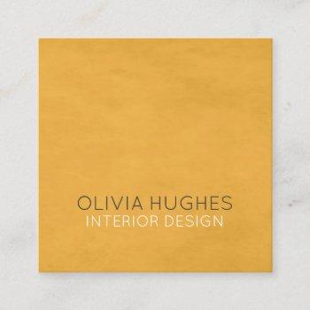 modern chic texture yellow interior design square business card