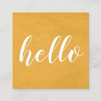 modern chic texture yellow networking consultant square business card